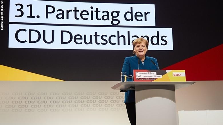 La novetat més rellevant va ser que la cancellera, Angela Merkel, va anunciar la seva retirada política, tant al capdavant del Govern com del partit
