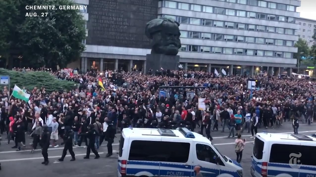 Manifestació a Chemnitz contra la immigració