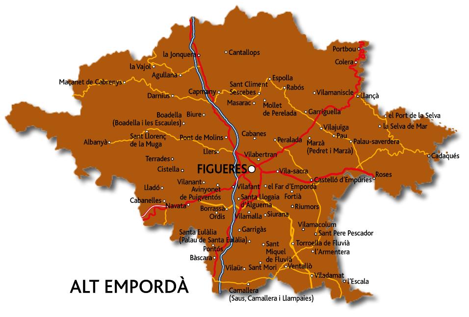 Mapa De Alt Emporda.L Alt Emporda Enciclopedia Cat