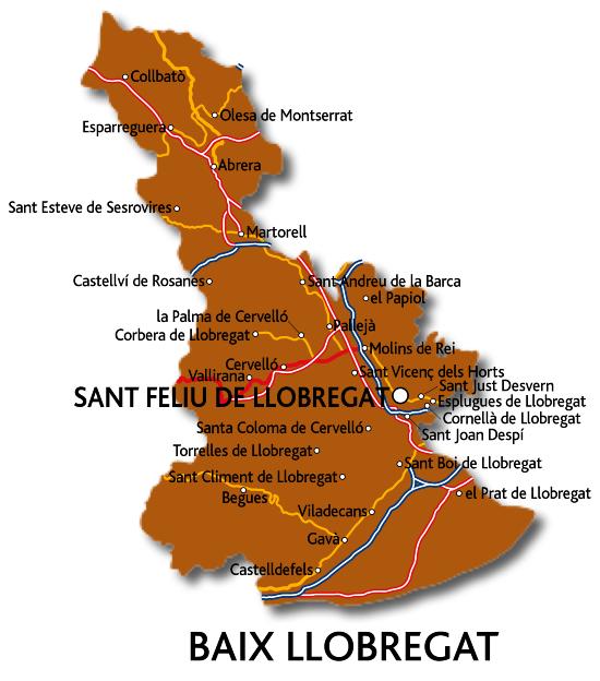 Comarca de catalunya a la vall mitjana i baixa del llobregat - Temperatura sant feliu de llobregat ...