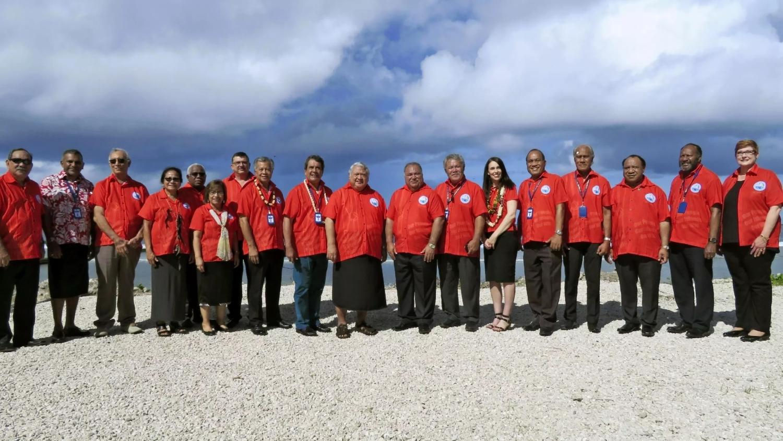 Foto de família dels assistents al Fòrum de les Illes del Pacífic